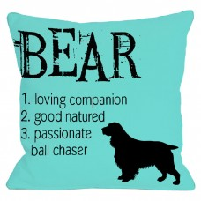 One Bella Casa Personalized Bear Throw Pillow HMW2260