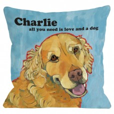 One Bella Casa Personalized Love A Dog Throw Pillow HMW4517