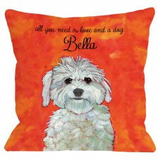 One Bella Casa Personalized Maltese Throw Pillow HMW4482