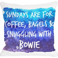 One Bella Casa Personalized Sundays Are for Snuggling Throw Pillow HMW6666