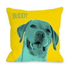 One Bella Casa Personalized Whisker Dogs Lab Throw Pillow HMW9551