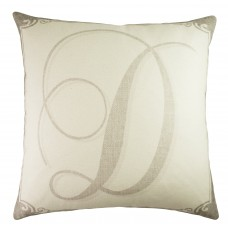 TheWatsonShop Monogram Personalized Cotton Throw Pillow WTSN4511