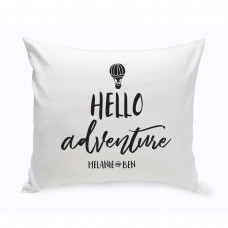 Winston Porter Hartsdale Personalized Hello Adventure Throw Pillow JMSI4367