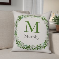 Winston Porter Tulley Family Clover Wreath Throw Pillow WNSP4894