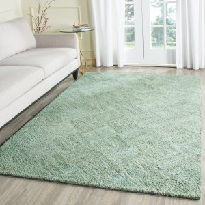 Bay Isle Home Millia Hand-Tufted Green Area Rug BAYI8388