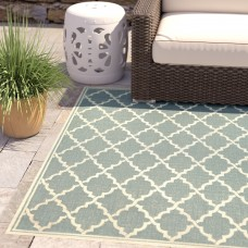 Charlton Home Crigler Ocean Port Light Turquoise Indoor/Outdoor Area Rug CHRH6153