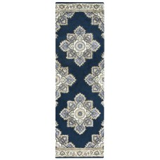 Alcott Hill Valley Hand-Tufted Indigo Area Rug ACOT7943