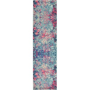 Bungalow Rose Fujii Blue Area Rug BNGL8134