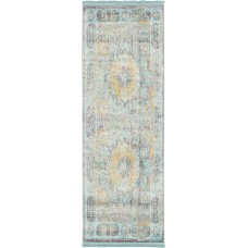Bungalow Rose Lonerock Blue/Yellow Area Rug BGRS2194