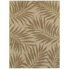 Bay Isle Home Samuels Palm Leaves Beige Indoor/Outdoor Area Rug BX2882