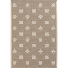 Charlton Home Pearce Beige/Taupe Damask Area Rug CHRL2998