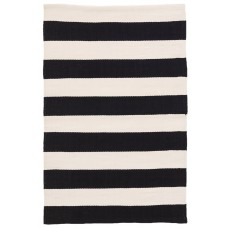 Dash and Albert Rugs Catamaran Stripe Black/Off-White Indoor/Outdoor Area Rug DAX3641