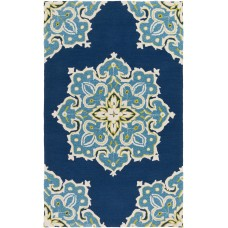 Mistana Iona Hand-Hooked Blue Indoor/Outdoor Area Rug MTNA3141