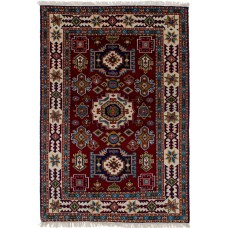 Bloomsbury Market One-of-a-Kind Berkshire Hand-Knotted Wool Dark Red Area Rug BLMA3809