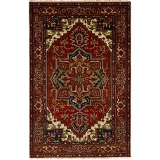 Bloomsbury Market One-of-a-Kind Etna Hand-Knotted Wool Dark Red Area Rug BLMS1892