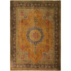 Bloomsbury Market One-of-a-Kind Fernly Vintage Distressed Overdyed Hand-Woven Wool Orange/Brown Area Rug AFRU2727