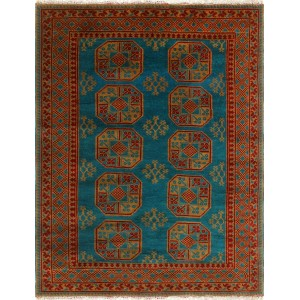 Bloomsbury Market One-of-a-Kind Kappel Hand-Knotted Wool Green/Red Area Rug NRUG5084