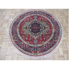 Bloomsbury Market One-of-a-Kind Pellegrino Serapi Heriz Hand-Knotted Brick Red Area Rug OLRG1102
