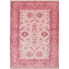 Bungalow Rose One-of-a-Kind Graver Hand-Knotted Silk Pink Area Rug BGLS3361