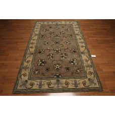 Darby Home Co One-of-a-Kind Dimartino Hand-Tufted Wool Brown/Light Green Area Rug OROH1014