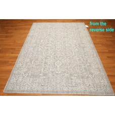 Darby Home Co One-of-a-Kind Dimauro Hemp Kilim Hand-Knotted Wool Tone on Tone Gray Area Rug OROH1229