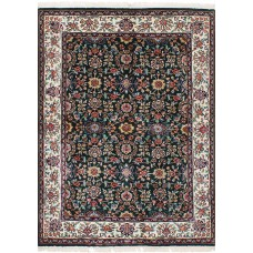 Darby Home Co One-of-a-Kind Lacefield Hand-Knotted Silk Dark Green/Red Area Rug DBHM5302