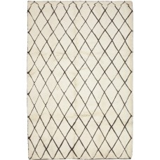 Darya Rugs One-of-a-Kind Moroccan Hand-Knotted Beige Area Rug DYAR3436