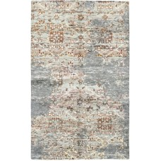 Gracie Oaks One-of-a-Kind Newtownabbey Hand-Knotted Wool Gray/Brown Indoor Area Rug GRCS6912