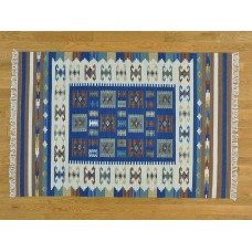 Isabelline One-of-a-Kind Beebe Reversible Handmade Kilim Wool Area Rug OLRG4202