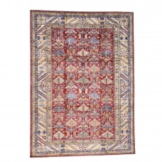 Millwood Pines One-of-a-Kind Tillman Super Hand-Knotted Red/Blue Area Rug MLWP1576
