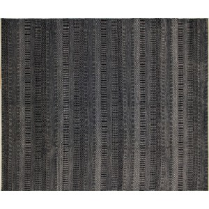 Noori Rug One-of-a-Kind Grass Fine Noor Hand-Knotted Black Area Rug NRUG2269