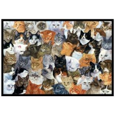 Caroline's Treasures Cats Galore Doormat HTJ22268