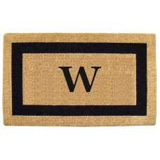 Nedia Home Single Picture Frame Personalized Monogrammed Doormat NEDH1128