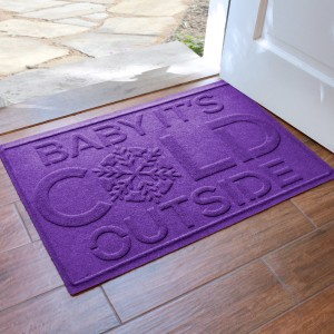 The Holiday Aisle Aqua Shield Baby It's Cold Doormat HLDY7892