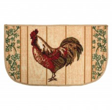 J&M Home Fashions Rooster Slice Kitchen Mat JMHF1194