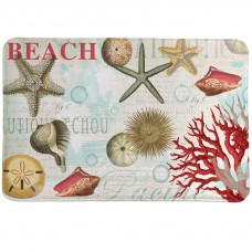 LauralHome Dream Beach Shells Mat LAOM1310