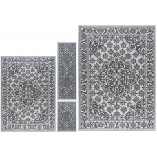 Darby Home Co Warrensville 4 Piece Gray Area Rug DBHM5579