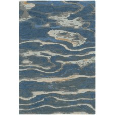 Ivy Bronx Borges Hand-Tufted Navy/Sea Foam Area Rug IVYB7168