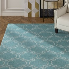 Mercer41 Shandi Hand-Tufted Light Blue Area Rug MCRF6576