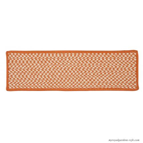 Colonial Mills Outdoor Houndstooth Tweed Orange Stair Treads CV10990