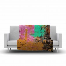 East Urban Home Geordanna Fields Kala II Abstract Fleece Throw EUAH4725