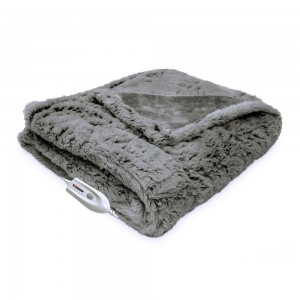 Serta Faux Fur Reversible Electric Heated Throw XS3466