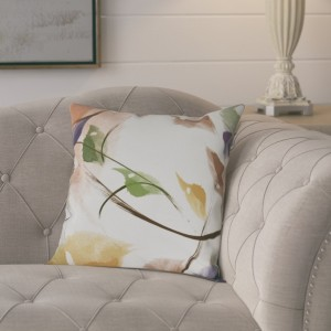 August Grove Roscoe Windy Floral Outdoor Throw Pillow AGGR1778