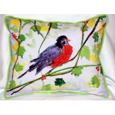Betsy Drake Interiors Robin Outdoor Lumbar Pillow HUC1751