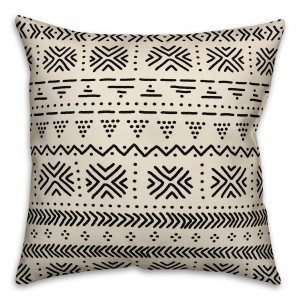 Bungalow Rose Elmwood Pattern Outdoor Throw Pillow BGLS3914