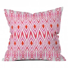 Deny Designs Ikat Watermelon Outdoor Throw Pillow NDY13955