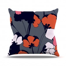 East Urban Home Pop Flowers by Gabriela Fuente Outdoor Throw Pillow HACO9721