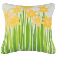 Kate Nelligan Daffodil Cotton Throw Pillow KCTE1078
