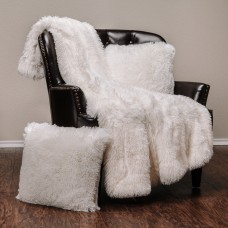 Mercer41 Cora Chick Fuzzy Faux Fur Throw MCRF4518