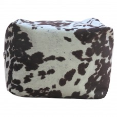 Williston Forge Rolf Cowhide Pouf WLFR4283